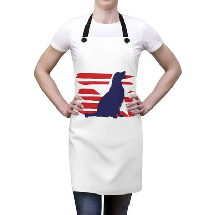 Golden Retriever American Stripes Apron Accessories One Size Tiny Beast Designs