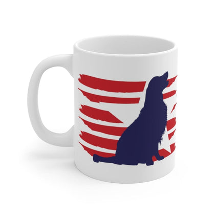Golden Retriever American Stripes Mug Mug 11oz Tiny Beast Designs