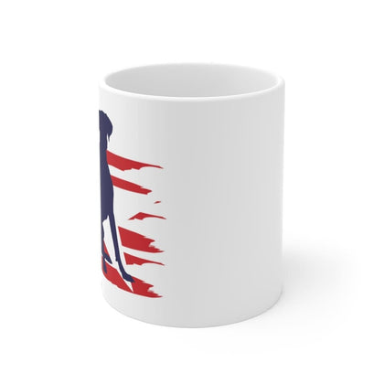 Great Dane American Stripes Mug Mug 11oz Tiny Beast Designs