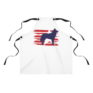Husky American Stripes Apron Accessories One Size Tiny Beast Designs