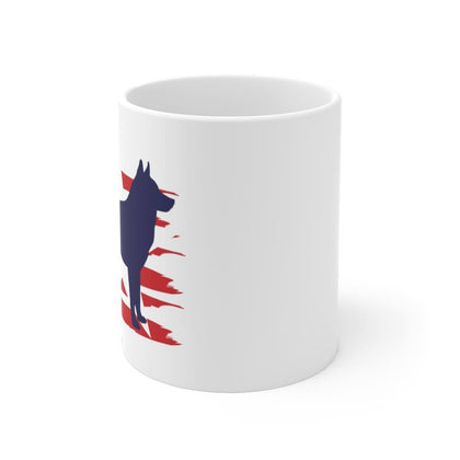 Husky American Stripes Mug Mug 11oz Tiny Beast Designs