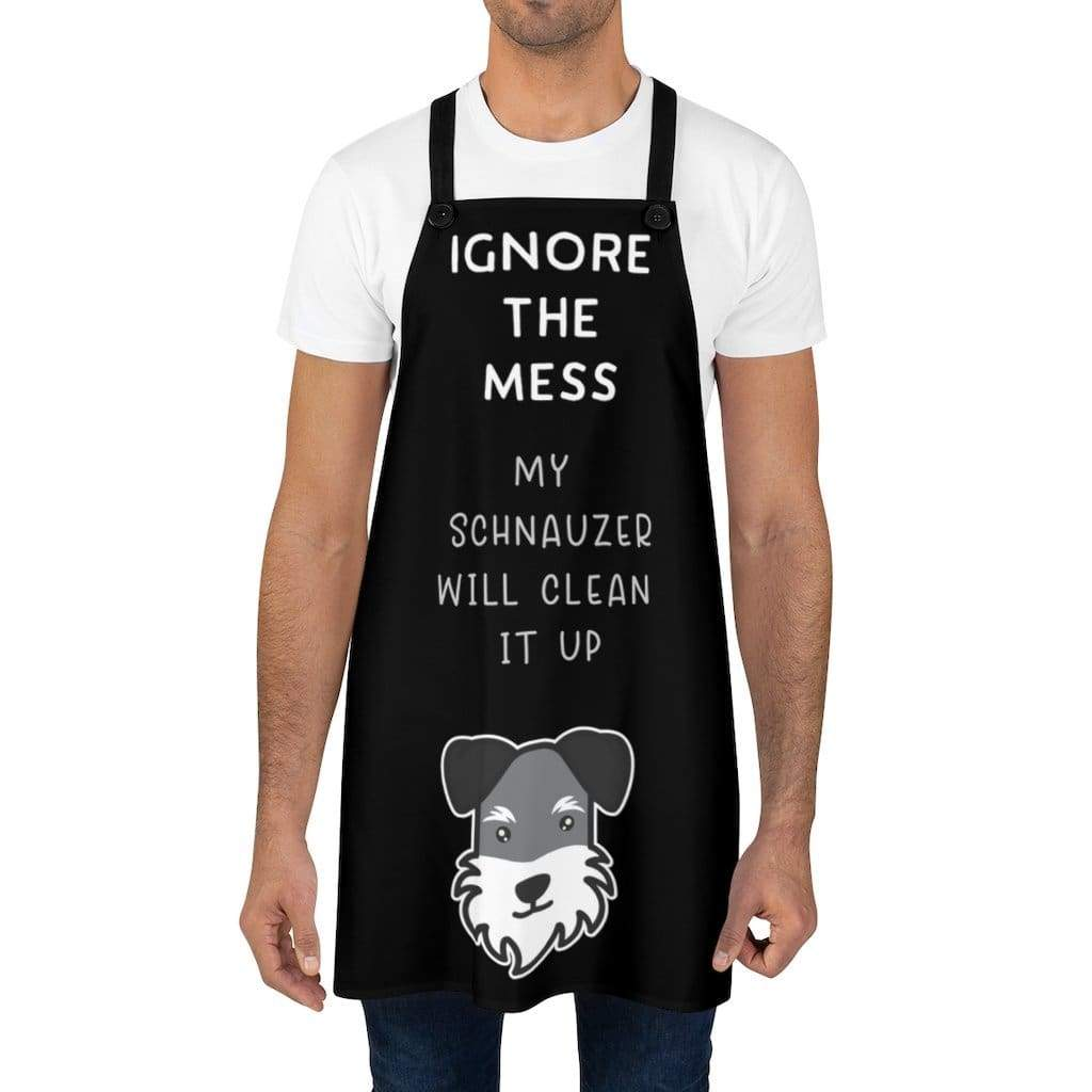 Ignore the Mess Schnauzer Apron (Black) Accessories Tiny Beast Designs