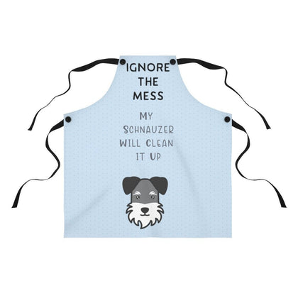 Ignore the Mess Schnauzer Apron (Blue) Accessories Tiny Beast Designs