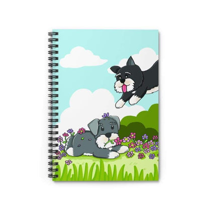 Joyful Schnauzer Notebook Paper products Tiny Beast Designs