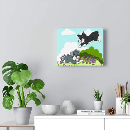 Joyful Schnauzers Printed Canvas Canvas Tiny Beast Designs