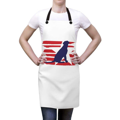 Labrador American Stripes Apron Accessories One Size Tiny Beast Designs