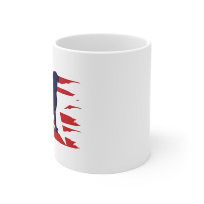Labrador American Stripes Mug Mug 11oz Tiny Beast Designs