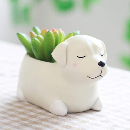 Labrador Plant Pot Planter Tiny Beast Designs