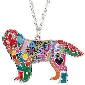 Newfoundland Enamel Necklace Necklace Multicolor Tiny Beast Designs