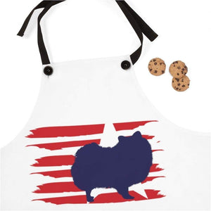Pomeranian American Stripes Apron Accessories One Size Tiny Beast Designs