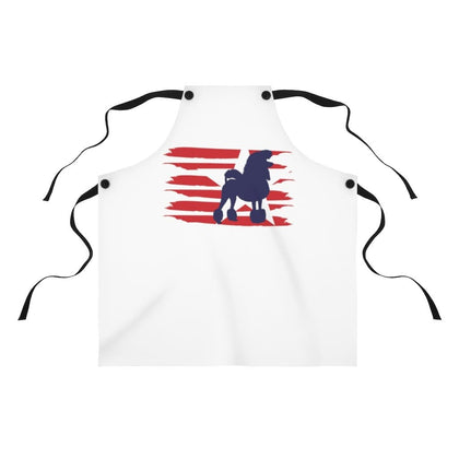 Poodle American Stripes Apron Accessories One Size Tiny Beast Designs