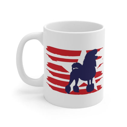 Poodle American Stripes Mug Mug 11oz Tiny Beast Designs