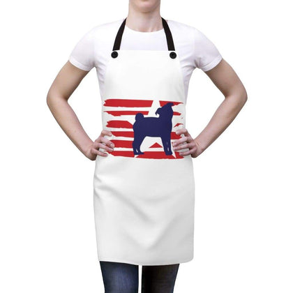 Pug American Stripes Apron Accessories One Size Tiny Beast Designs