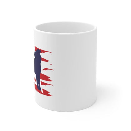 Pug American Stripes Mug Mug 11oz Tiny Beast Designs