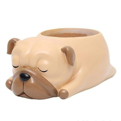 Pug Plant Pot Planter Tiny Beast Designs