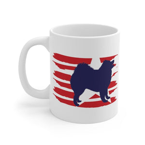 Samoyed American Stripes Mug Mug 11oz Tiny Beast Designs