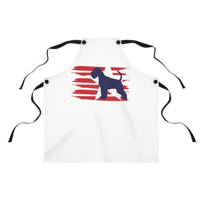 Schnauzer American Stripes Apron Accessories One Size Tiny Beast Designs