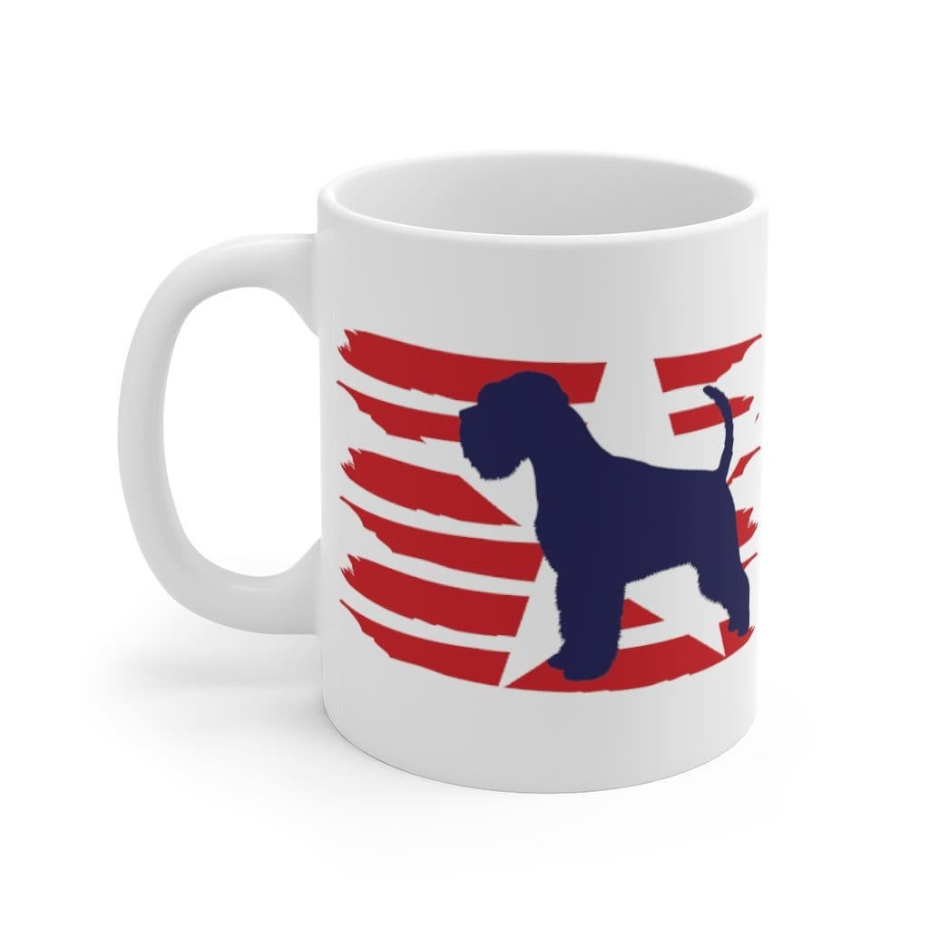 Schnauzer American Stripes Mug Mug 11oz Tiny Beast Designs