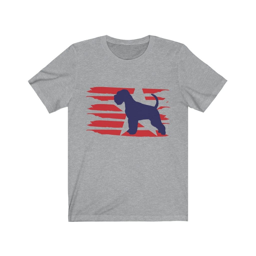 Schnauzer American Stripes Shirt T-Shirt Athletic Heather / L Tiny Beast Designs