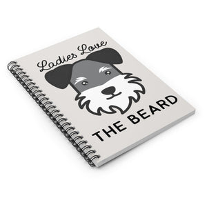 Schnauzer Beard Notebook Paper products Tiny Beast Designs