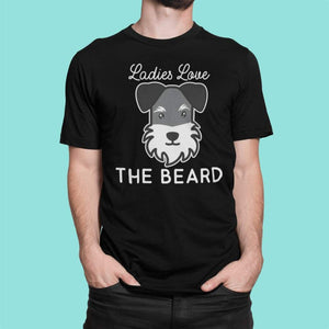 Schnauzer Beard Shirt T-Shirt Tiny Beast Designs