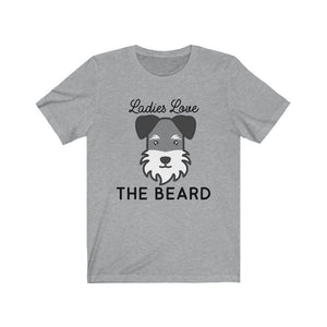 Schnauzer Beard Shirt T-Shirt Athletic Heather / XS Tiny Beast Designs