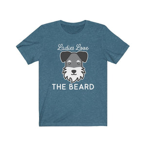 Schnauzer Beard Shirt T-Shirt Heather Deep Teal / S Tiny Beast Designs