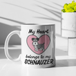 Load image into Gallery viewer, Schnauzer Heart Mug Mug Tiny Beast Designs