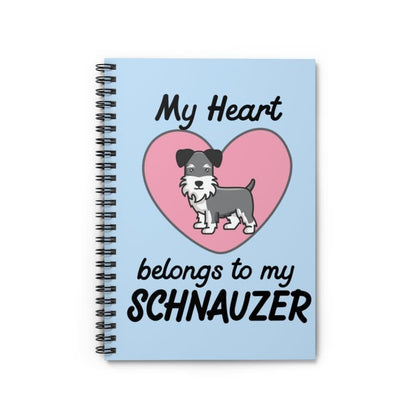 Schnauzer Heart Notebook Paper products Tiny Beast Designs