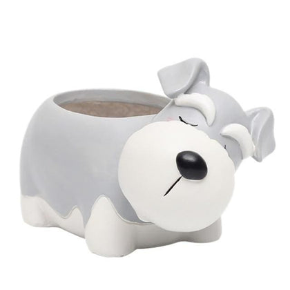 Schnauzer Plant Pot Planter Tiny Beast Designs