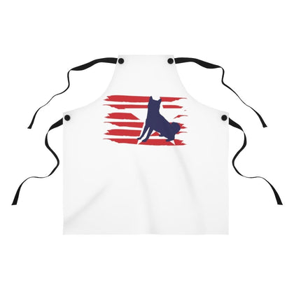 Shiba Inu American Stripes Apron Accessories One Size Tiny Beast Designs