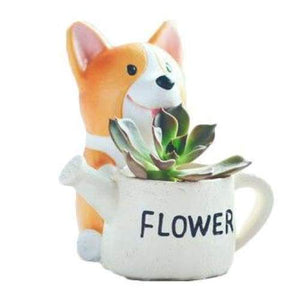 Watering Can Corgi Plant Pot Planter Tiny Beast Designs