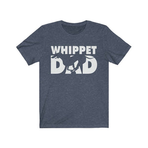 Whippet Dad Shirt T-Shirt Heather Navy / S Tiny Beast Designs