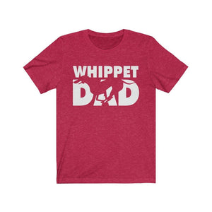 Whippet Dad Shirt T-Shirt Heather Red / S Tiny Beast Designs