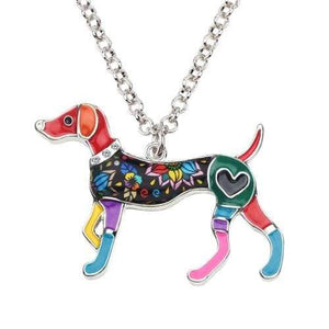 Whippet Enamel Necklace Necklace Multicolor Tiny Beast Designs