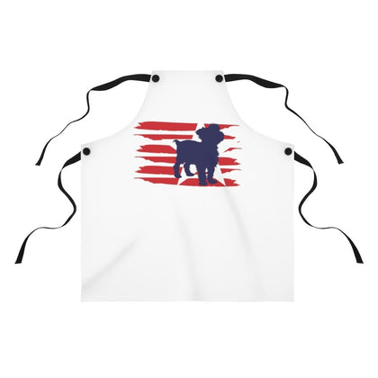 Yorkie American Stripes Apron Accessories One Size Tiny Beast Designs