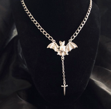Victorian Bat Chain|Demon Luxe