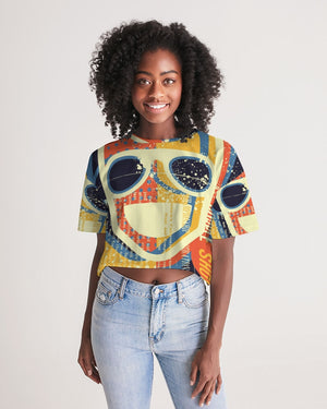 Young black woman wearing a crop top