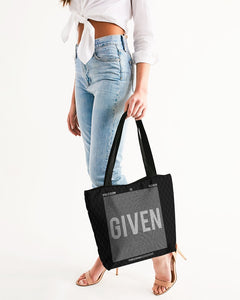 GIVEN COLLECTION Canvas Zipper Tote Bag