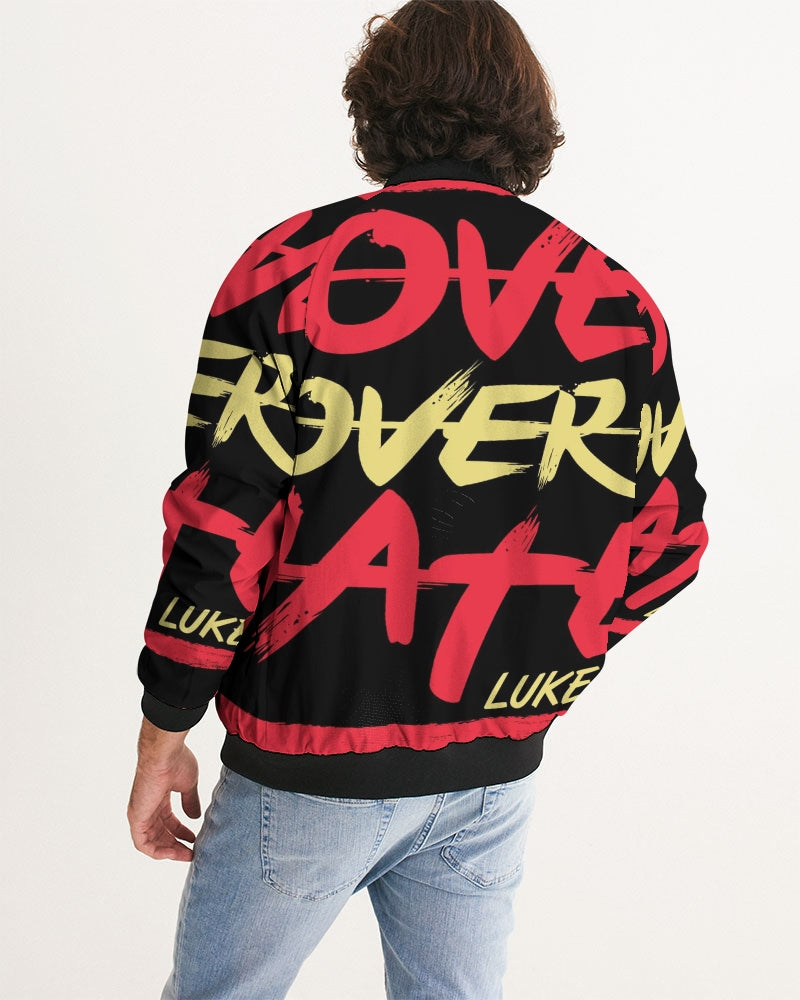 LOVE OVER HATE COLLECTION Men's Bomber Jacket