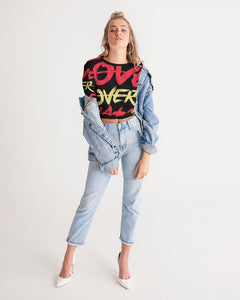 LOVE OVER HATE COLLECTION Women's Twist-Front Cropped Tee