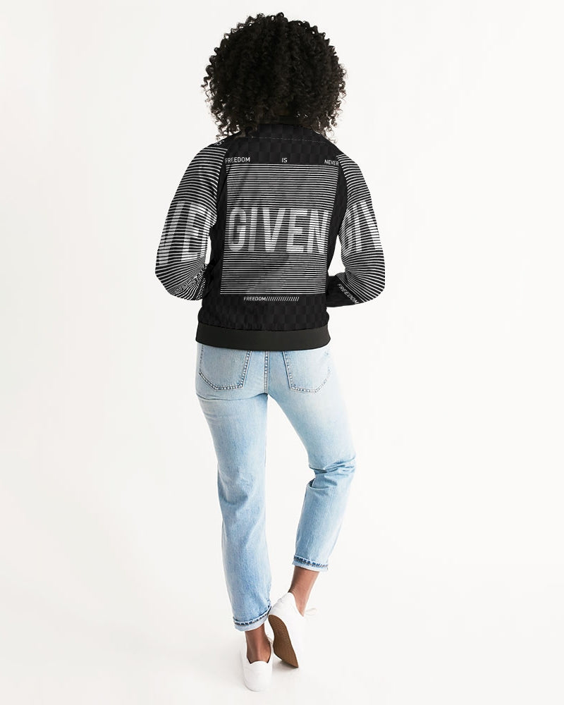 GIVEN COLLECTION Women's Athleisure Bomber Jacket