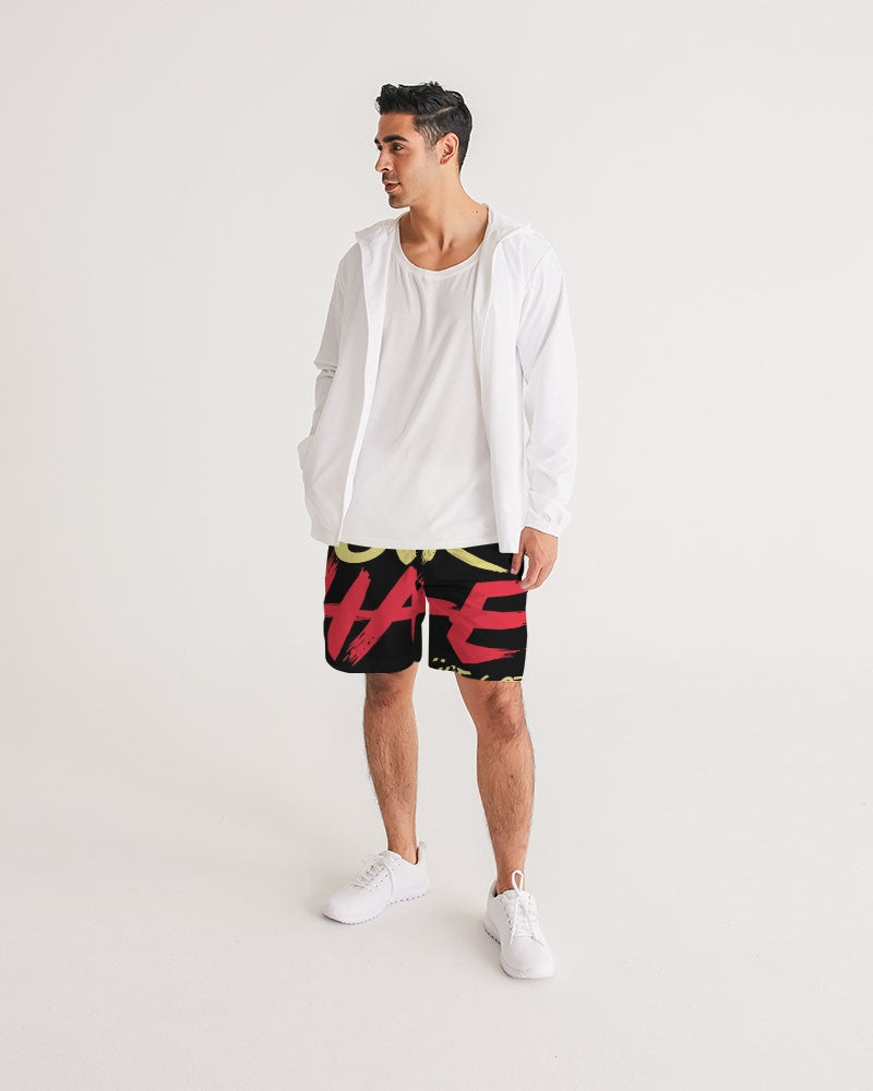 LOVE OVER HATE COLLECTION Men's Athleisure Shorts