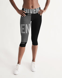 GIVEN COLLECTION Women's Athleisure Mid-Rise Capri