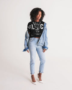 THE BLVCK COLLECTION Women's Lounge Cropped Tee