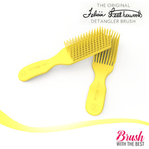 Felicia Leatherwood Detangler Brush (Mimosa Yellow)