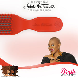 Felicia Leatherwood Detangler Brush (Red)