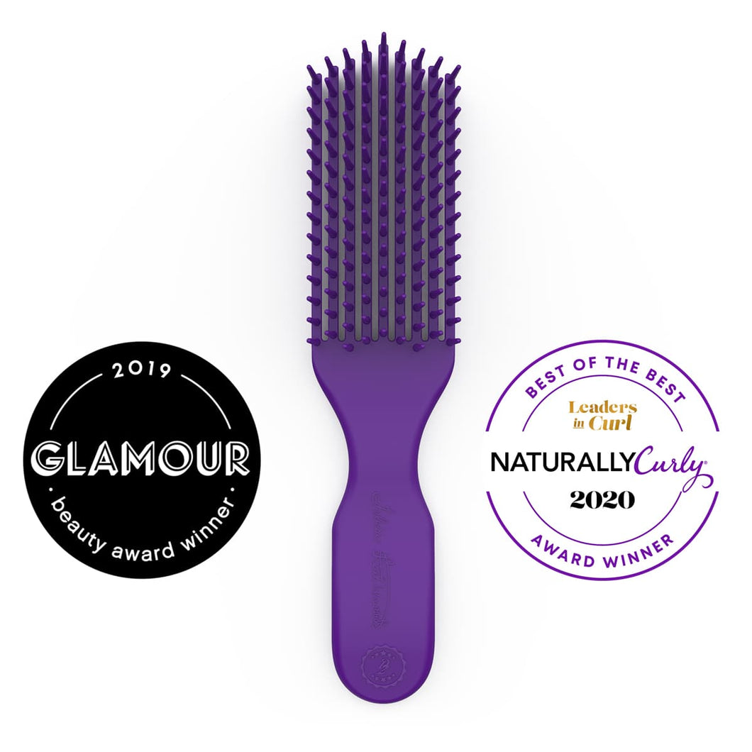 Felicia Leatherwood Detangler Brush (Violet Blue Iris)