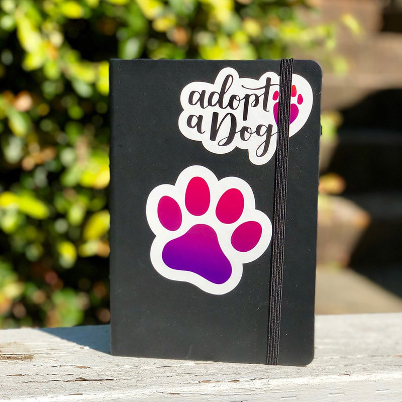 Adopt a Dog - Large, Set of 2, Dog Lover Die-Cut Sticker