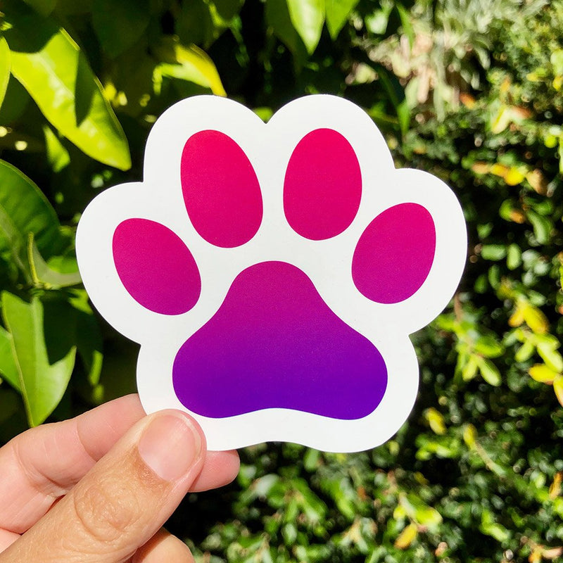 Paw Power - Large, Set of 2 - Dog Lover Die-Cut Sticker